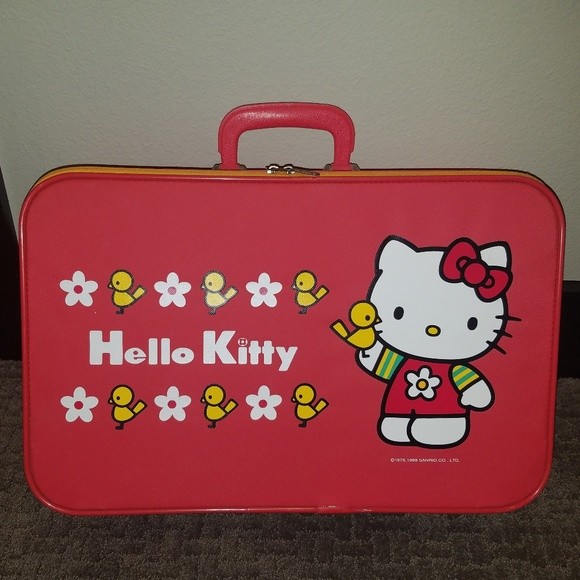 Vintage Hello Kitty Suitcase Sanrio Daisy Birds.  M 5a8d0d2246aa7cb96fed8bf5. Other Bags ... 0263de72f4b8b